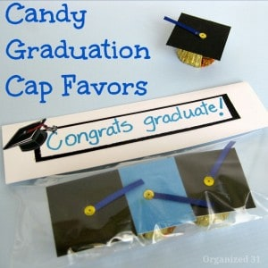 Candy Graduation Cap Favors - Organized 31