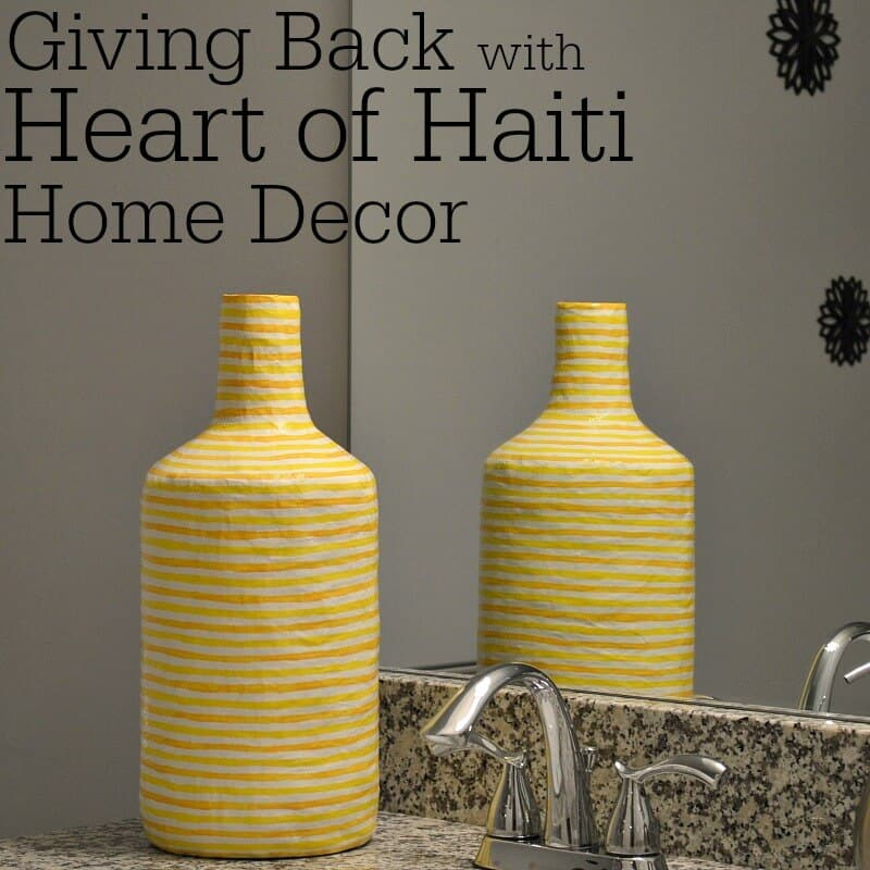 Giving Back with Heart of Haiti Home Decor - Organized 31 #HeartofHaiti #sponspored