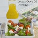 Lemon-Olive Oil Dressing Recipe - It's All Greek to Me - Organized 31 #OneYrGreek #sponsored