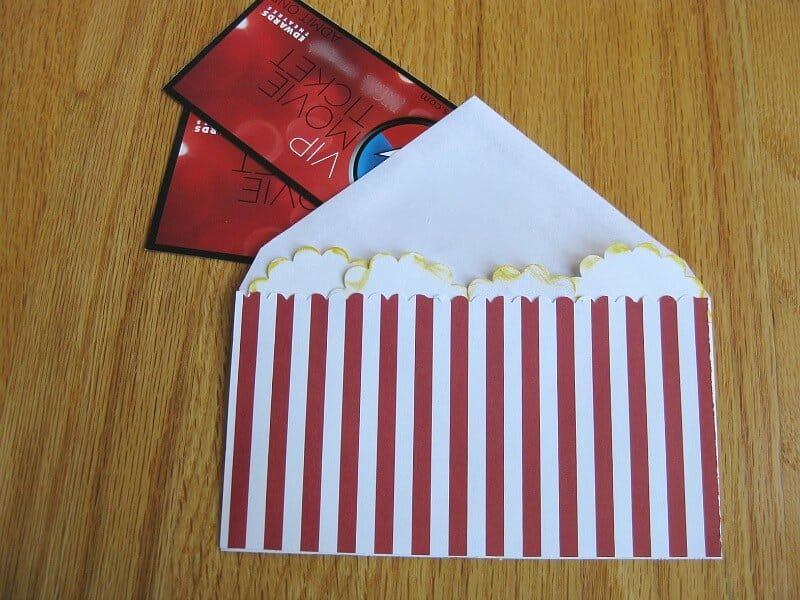 tickets in envelope