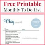 May To Do Checklist Free Printable
