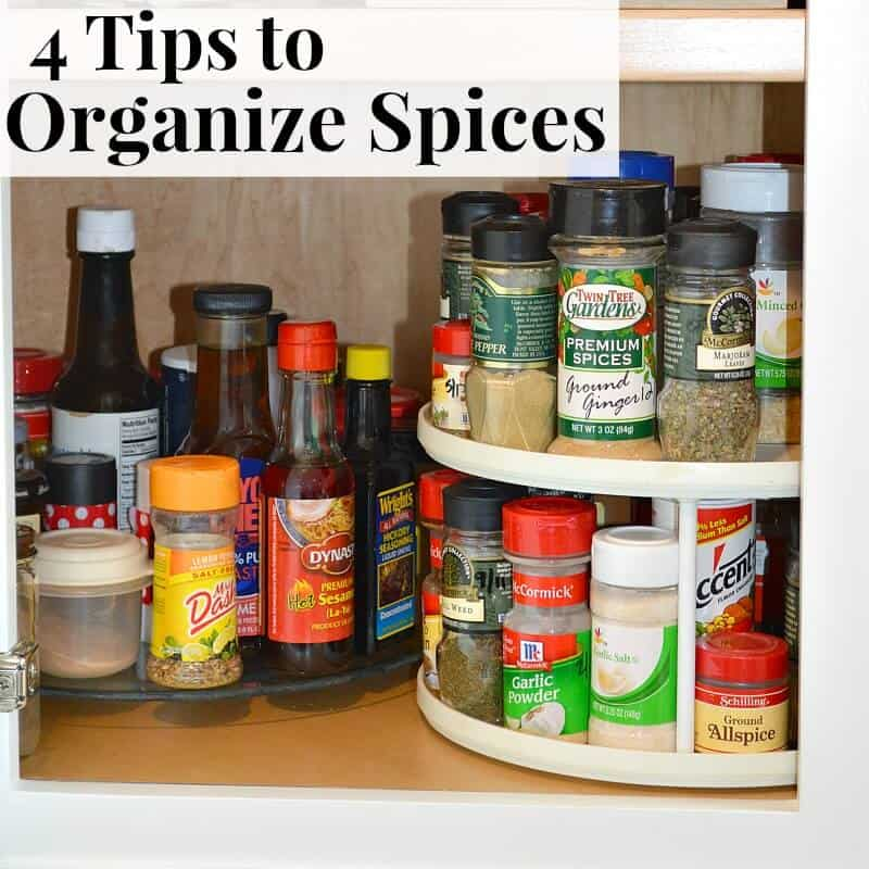 organized turn tables of spices