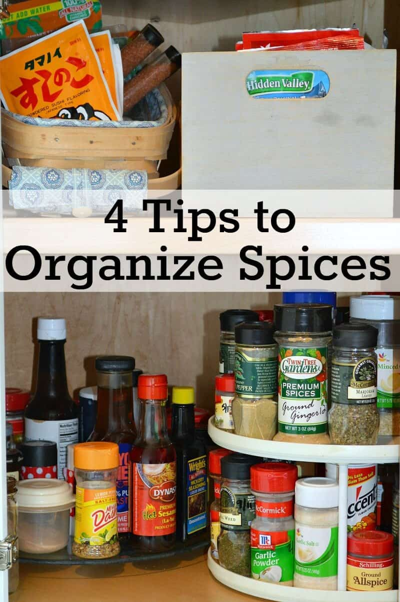 4 Easy tips to organize spices in your kitchen to make cooking easier.