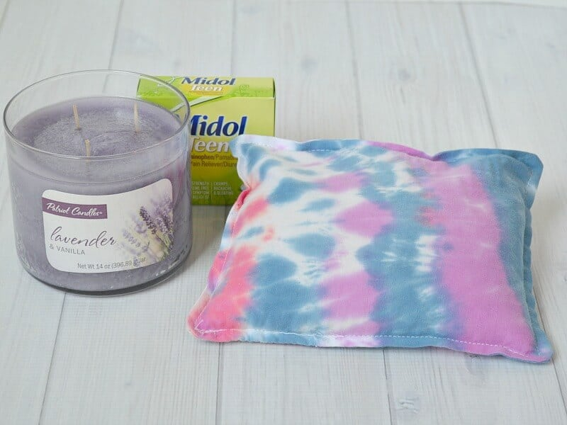 Teen Period & PMS Survival Kit with Tie-Dyed Rice Heat Pack #CycleSurvival #Ad