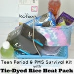 Teen Period & PMS Survival Kit with Tie-Dyed Rice Heat Pack