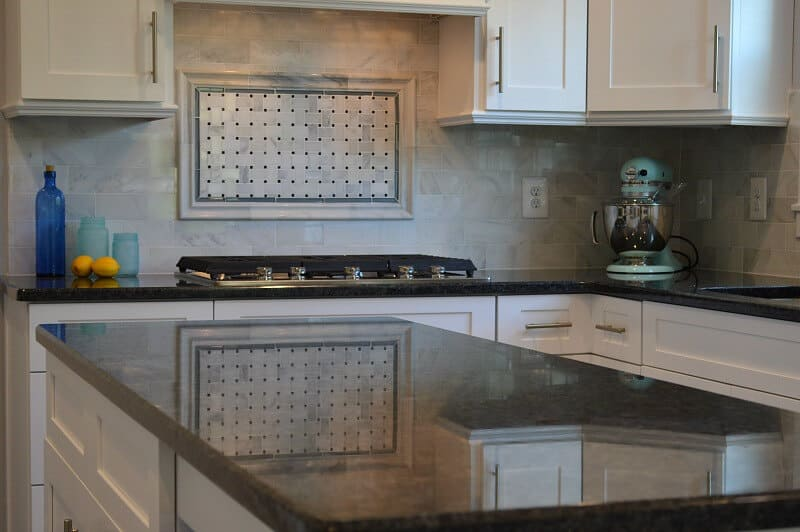 New Kitchen Reveal Tour - White Cabinets, marble and granite