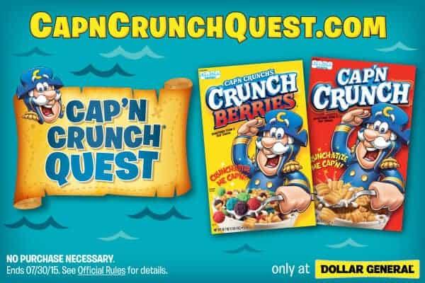 Capn Crunch Quest and Dollar General    #CapnCrunchQuest [Ad]