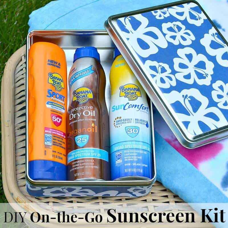 Make a DIY On-the-Go Sunscreen Kit for your family's summertime outdoor activities #bestsummerever#IC (ad)