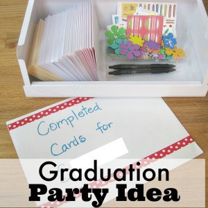 Graduation Party Idea - Have guests write cards for the graduate that you can then mail through out the student's first year of college