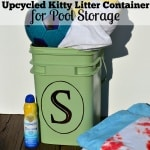 DIY Pool Storage – Uses for Empty Cat Litter Container