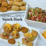 Make these easy fresh and spicy snack hacks in less than 15 minutes. #BackYourSnack [ad}