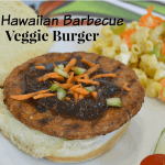 Hawaiian Barbecue Veggie Burger