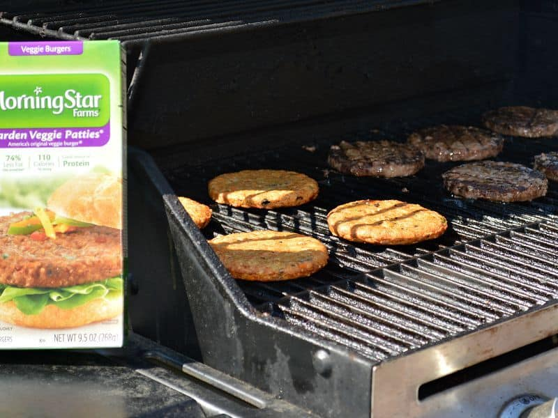 Hawaiian Barbecue Veggie Burgers are a great grilling option for everyone. #GrillWithATwist #ad