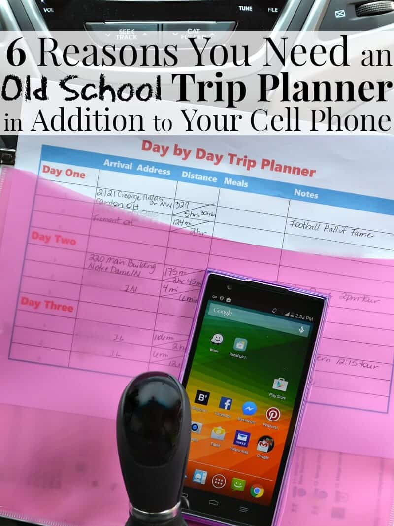 6 reasons why you need an old school trip planner in addition to your cell phone when you travel.  #Tips4Trips [Ad]