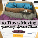 10 Tips for Moving Yourself Across Town