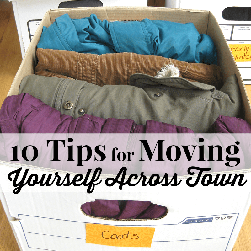 10 Tips for moving yourself across town.