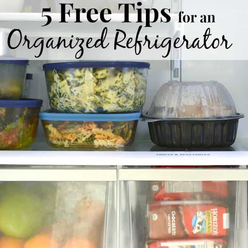 neatly organized refrigerator shelves