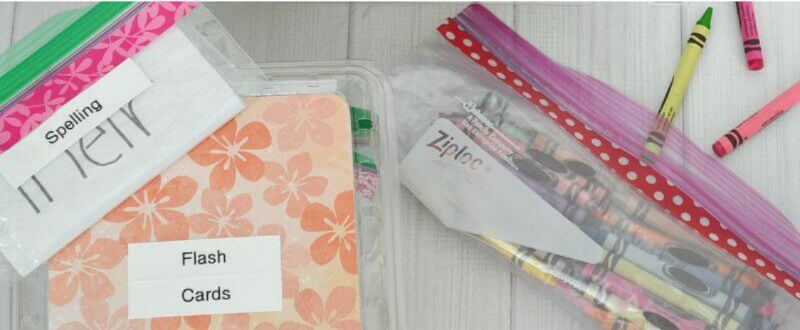 Stay organized this school year with this fun and easy trick. #ZiplocBackToSchool #Ad