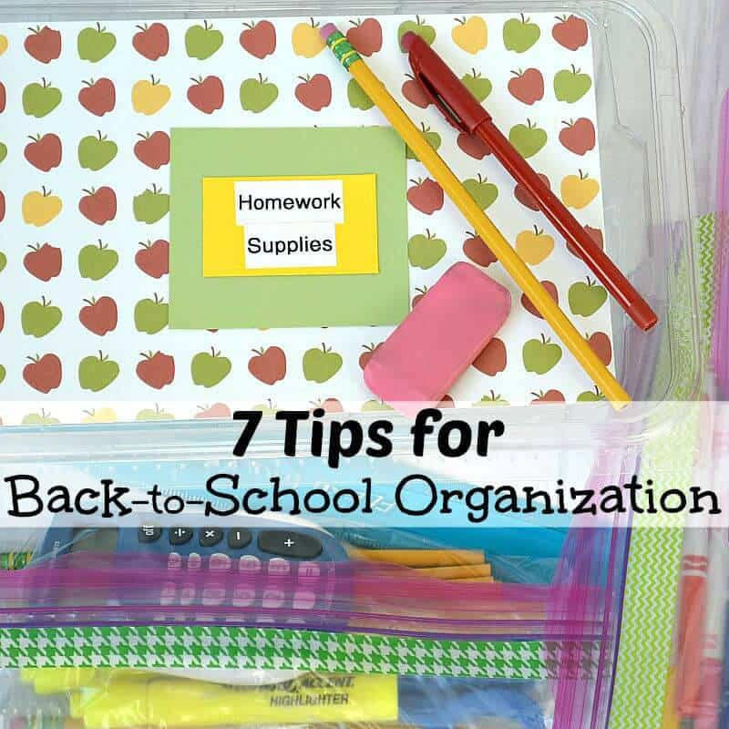 Easy tips for back-to-school organizing set your child up for success with homework.