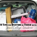9 Tips for staying in touch with your college student. #JustACallAway [Ad]