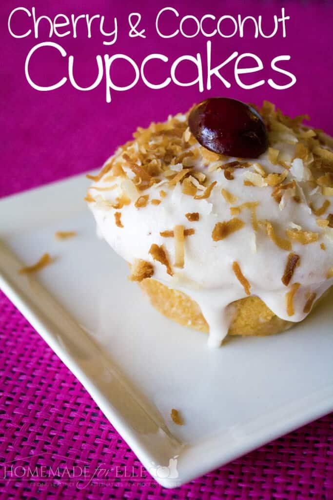 Cherry Coconut Cupcakes