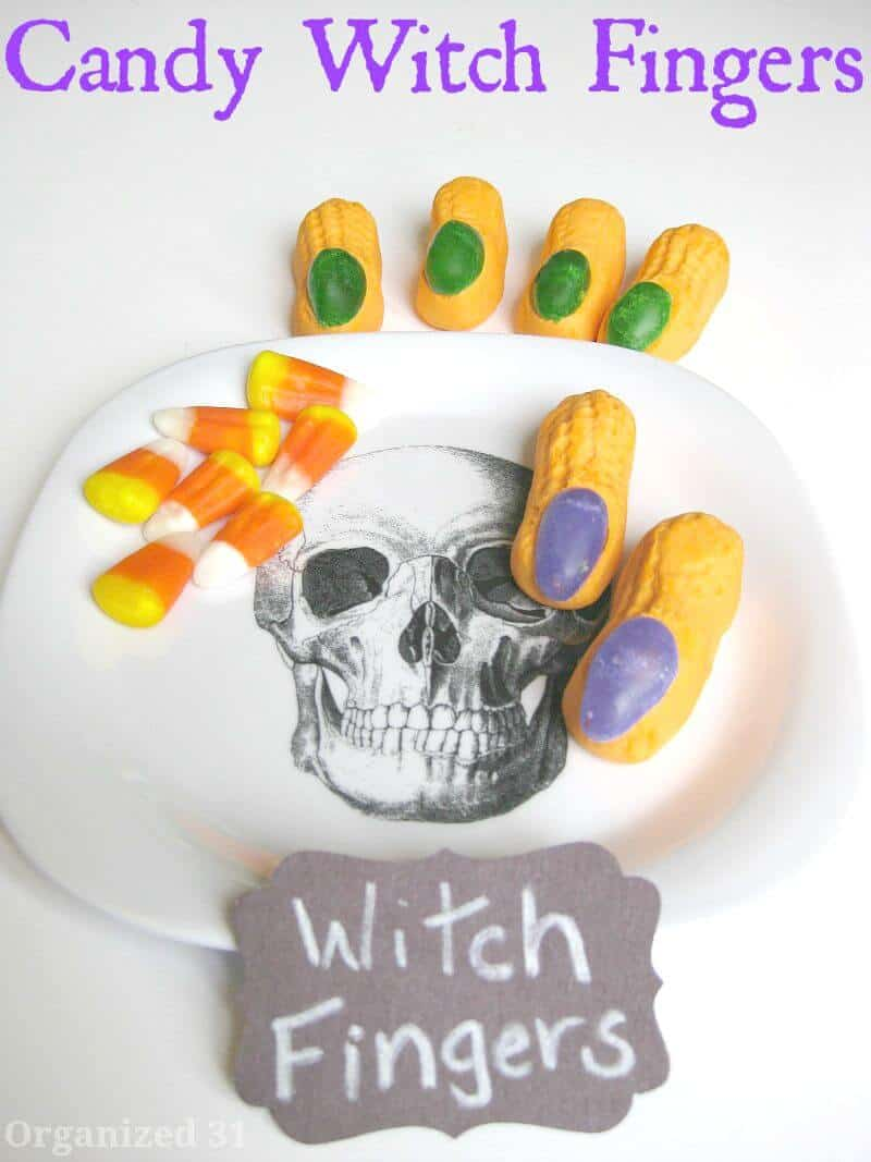 Candy Witch Fingers from Organized 31