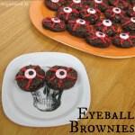 Halloween Eyeball Brownies