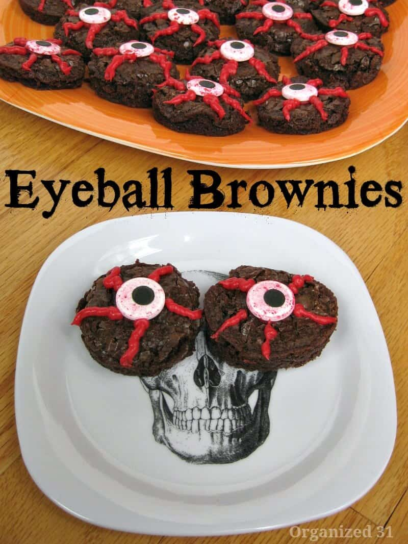 Make these easy Halloween Eyeball brownies for your next party or as a treat.
