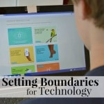 Tips for Setting Boundaries for Technology with your children. [ad]