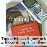 Tips to Help with Homework without Doing It For Them
