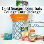 Cold Season Essentials College Care Package with Drawstring Bag Tutorial