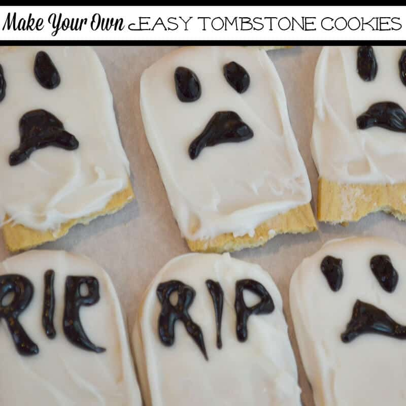 Make Your Own Easy Tombstone Cookies for Halloween.
