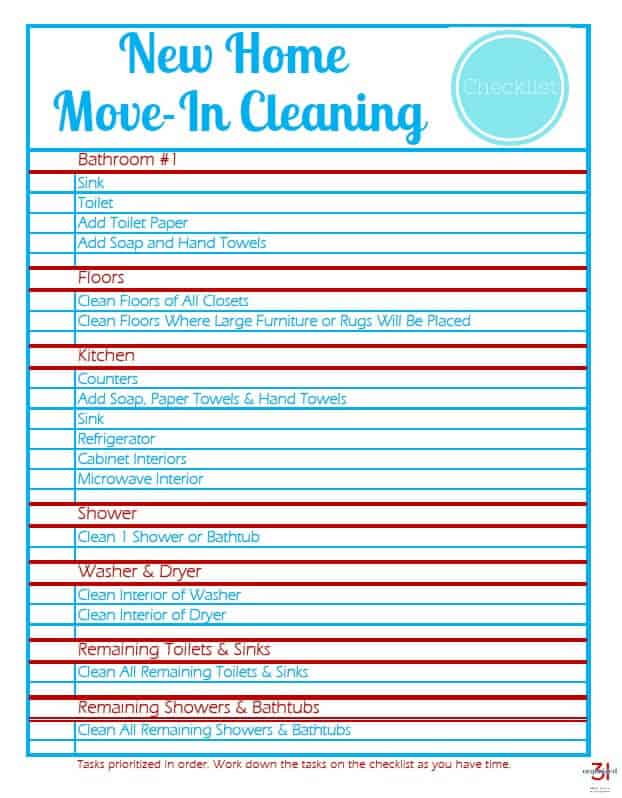 Image of New Home Move-In Cleaning Checklist