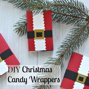 Make these DIY Christmas Candy Wrappers for pennies. They make great stocking stuffers and small gifts. They're also a great kids craft.