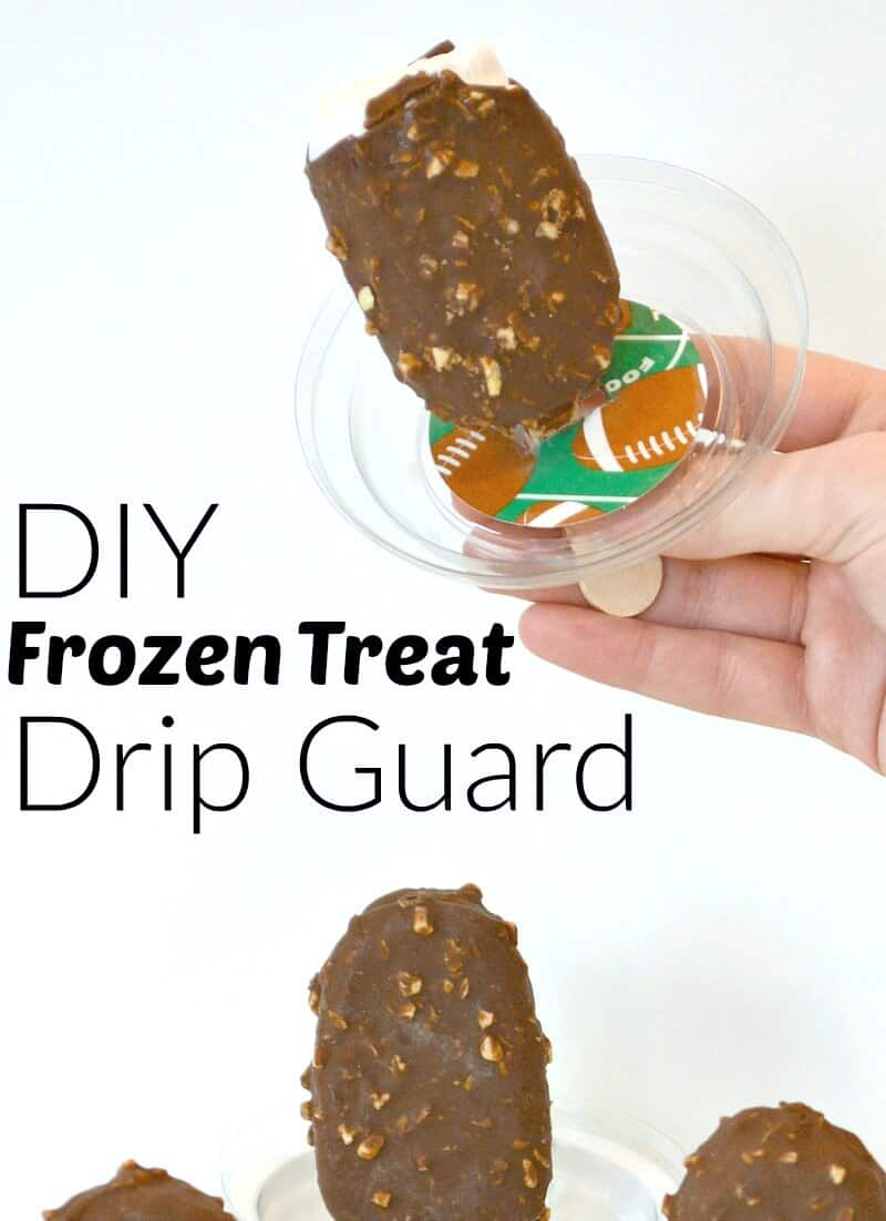 Make a DIY Frozen Treat Drip Guard or drip catcher to keep from a making a mess. #DairyFree4All [ad]