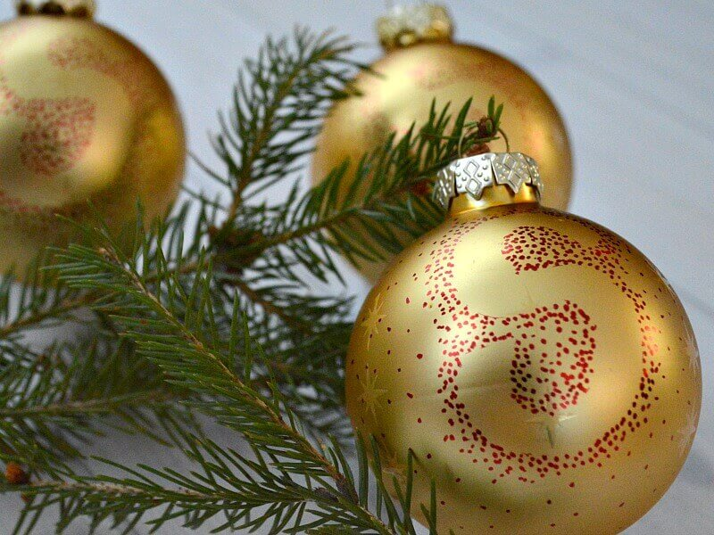 Make these Easy DIY Ornaments as a Sharpie Dot Ornament.