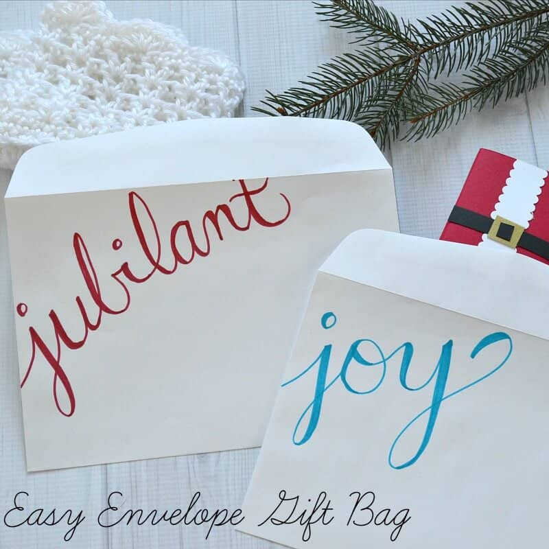 Make these easy envelope gift bags in minutes with items you already have.