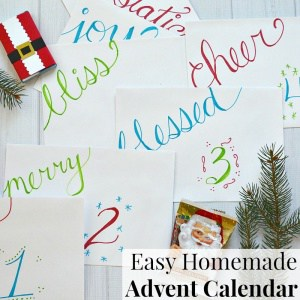 Make this easy homemade Advent Calendar with items you already have and in minutes.