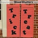 Repurposed Wood Shutters Sign for Halloween