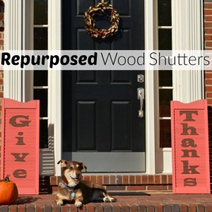 Repurposed Wood Shutters Sign for Thanksgiving