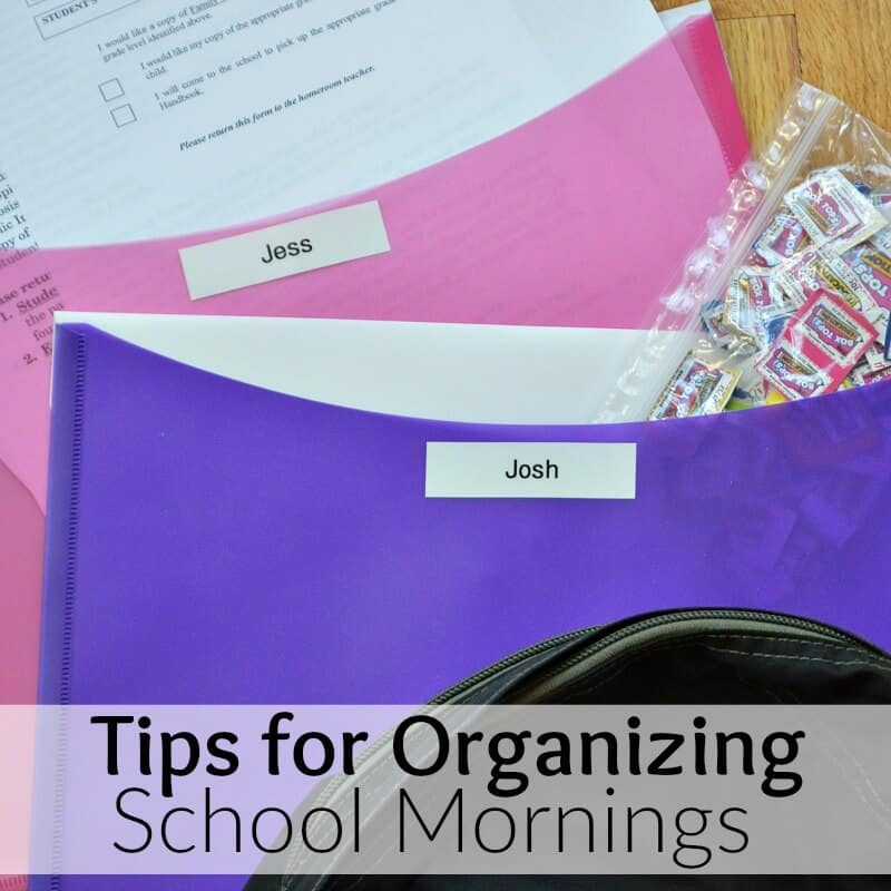Tips for Organizing School Mornings and donating Box Tops for Education #SaidNoSchoolEver [ad]