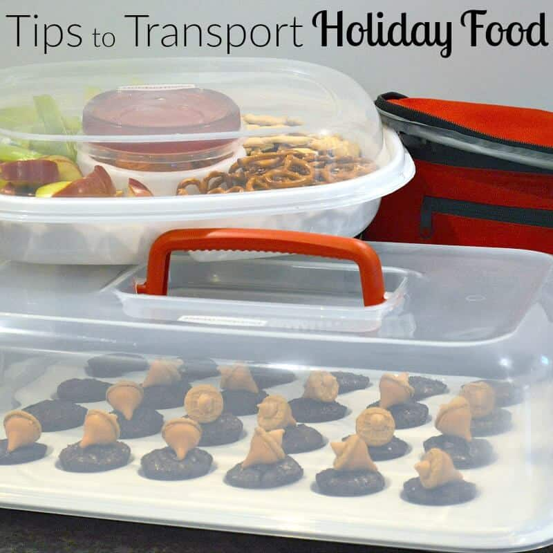 Simple tips to transport holiday food to a get together. #GobbleAgain #IC [ad]