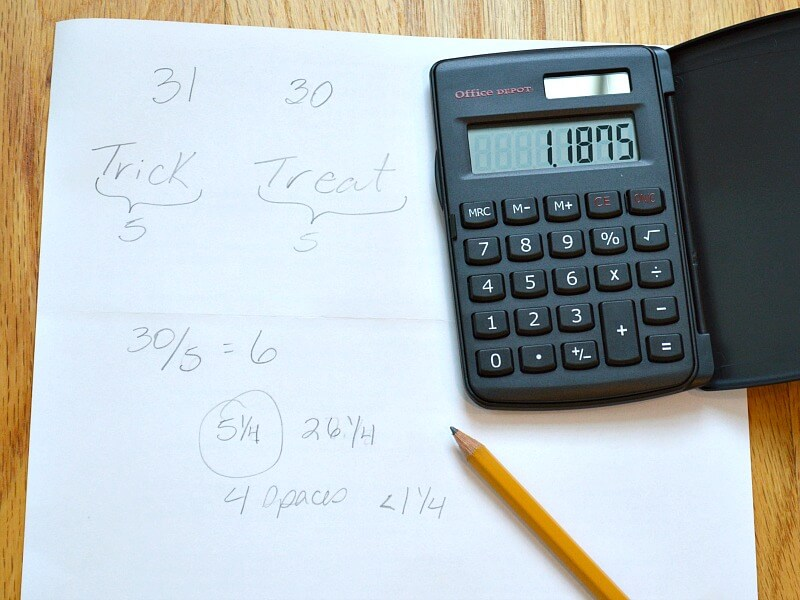 piece of paper, pencil and calculator