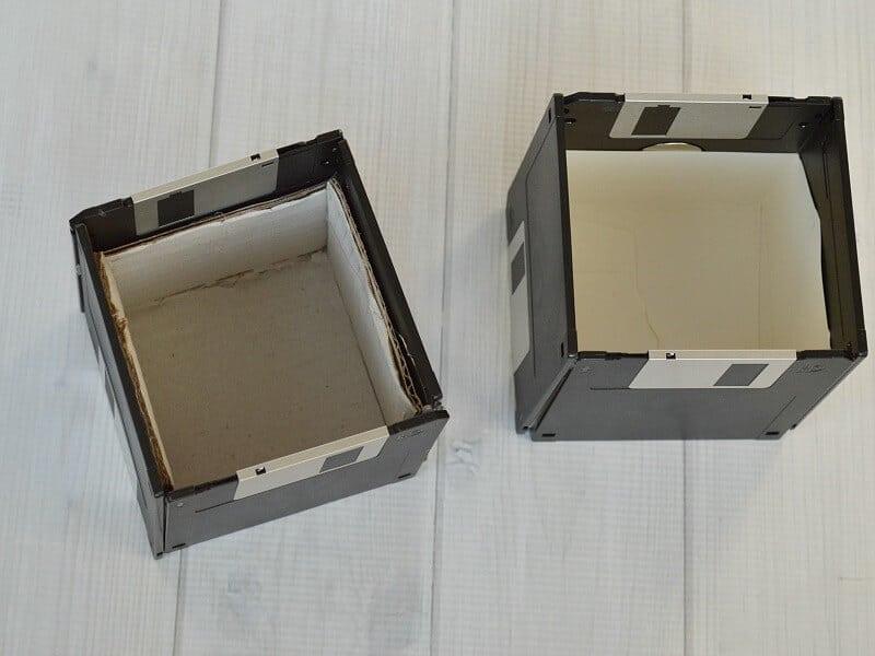 Make this DIY Computer Diskette Pencil Cup
