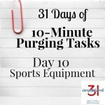 Day 10 Purging Tips – Sports Equipment