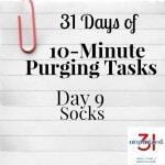 Day 9 Purging Tips – Socks