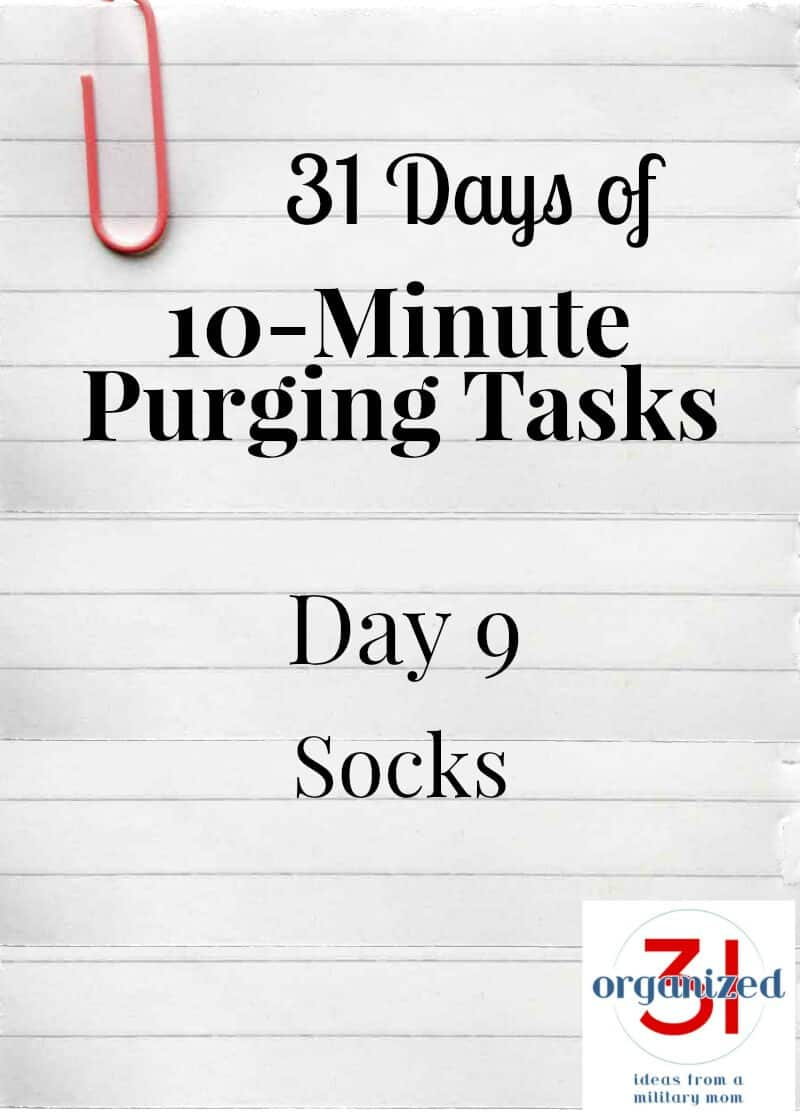 Take the 31 Days of 10-Minute Purging Tips Challenge on Day 8 - Purging Socks.
