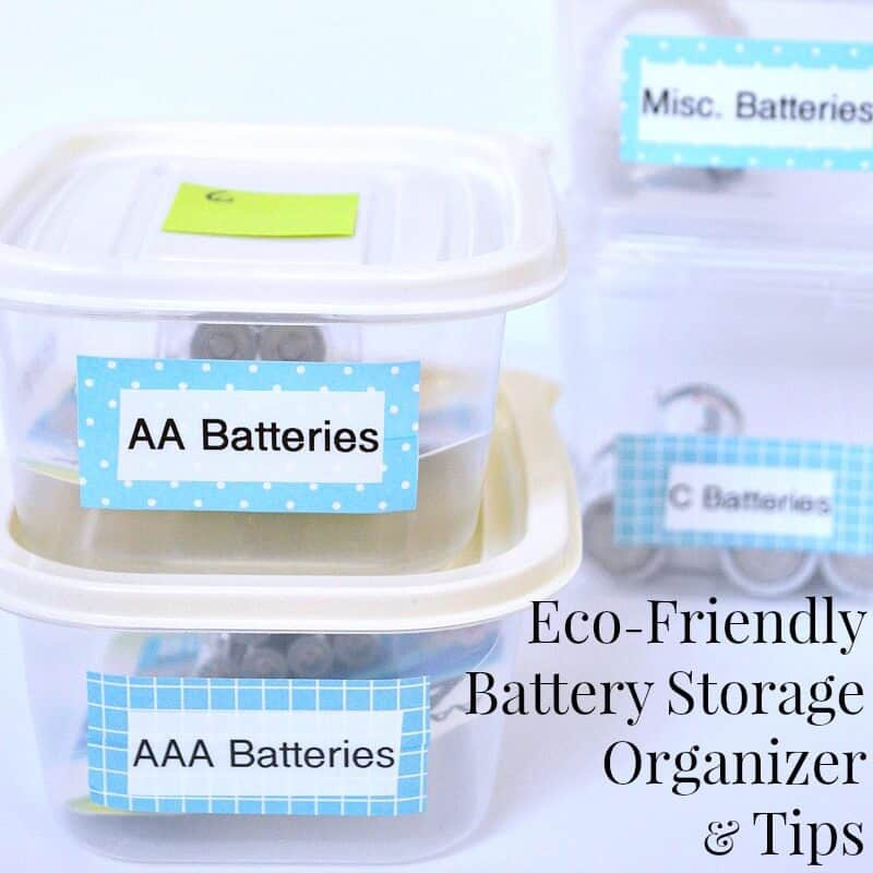 Take a few minutes for this free Eco-friendly battery storage organizer and tips. #PowerYourHoliday [ad]