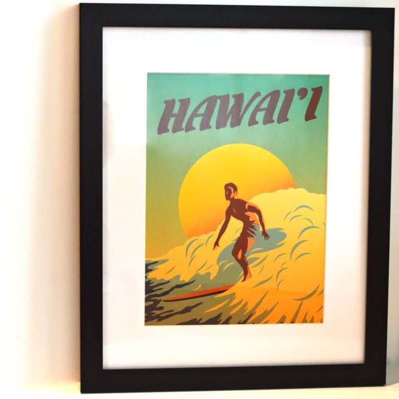 FramedArt.com Hawai'i surfer print product review [ad]