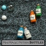 Make these easy DIY Mini Magic Potion Bottles for your Harry Potter fan. It's a craft you can make in minutes and for just pennies.